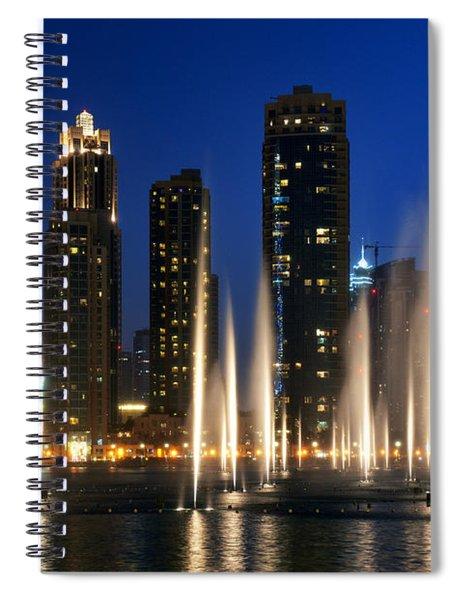 The Dubai Fountains Spiral Notebook