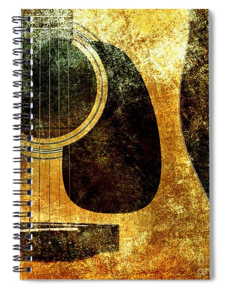 The Edgy Abstract Guitar Square Spiral Notebook