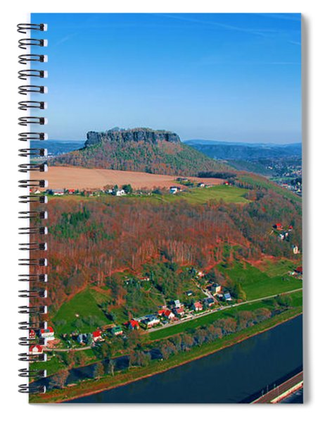 The Elbe Around The Lilienstein Spiral Notebook