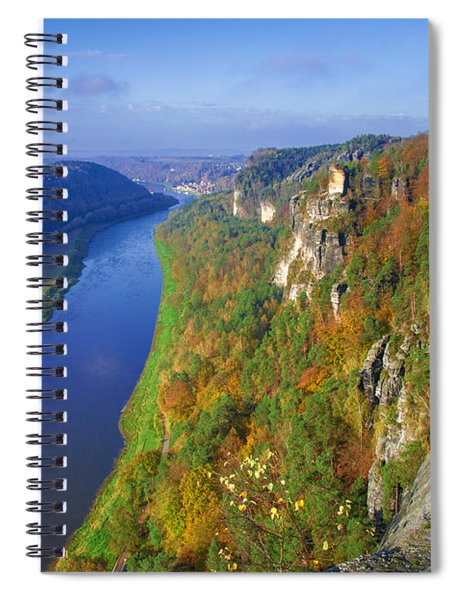 The Elbe Sandstone Mountains Along The Elbe River Spiral Notebook