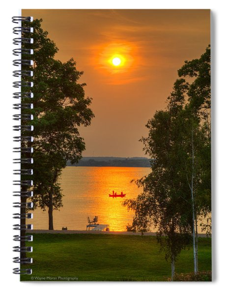 The End Of A Perfect Day Spiral Notebook
