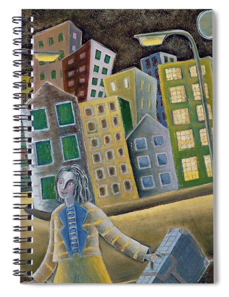 The Enigma Of Departure, 1989 Oil On Board Spiral Notebook