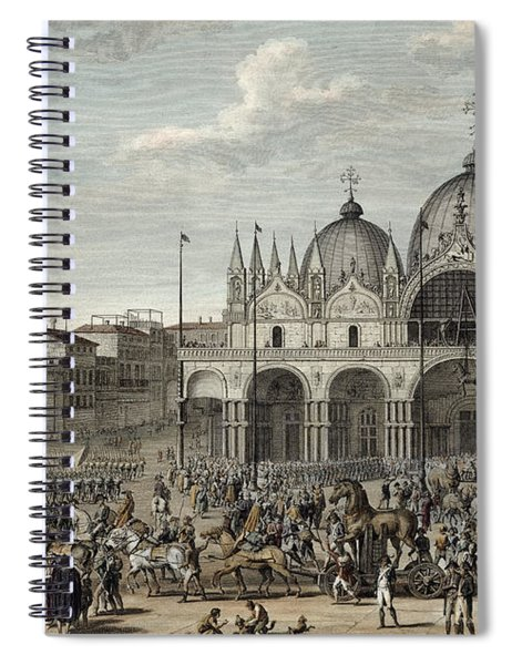 The Entry Of The French Into Venice Spiral Notebook