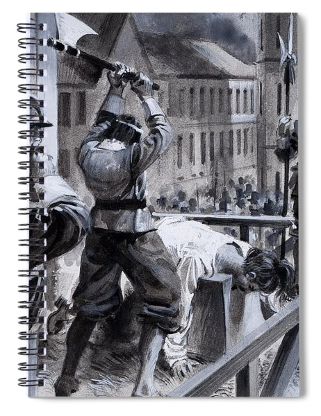 The Execution Of King Charles I Spiral Notebook