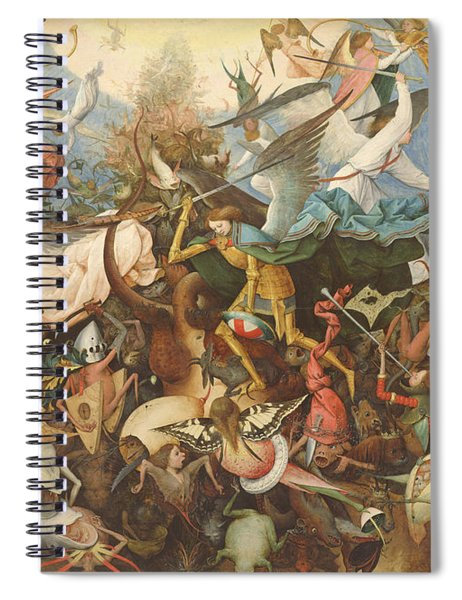The Fall Of The Rebel Angels, 1562 Oil On Panel Spiral Notebook