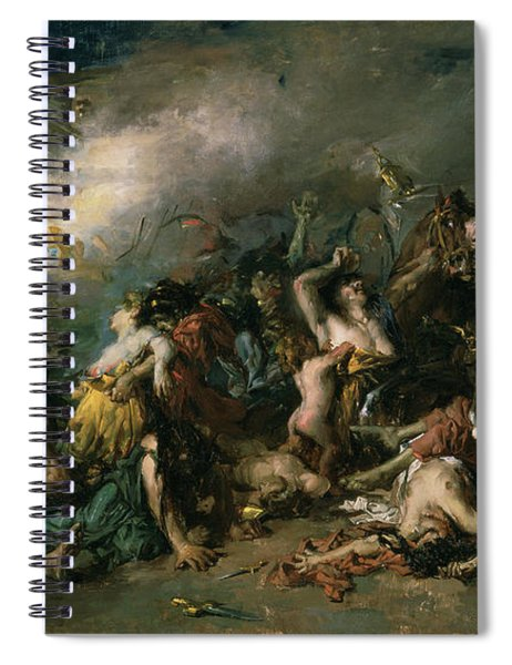 The Final Day Of Sagunto In 219bc, 1869 Oil On Canvas Spiral Notebook