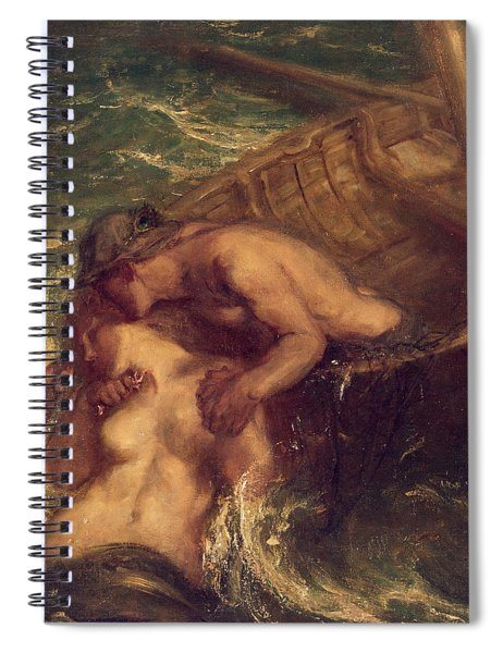 The Fisherman And The Mermaid, 1901-03 Spiral Notebook