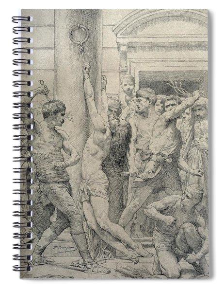 The Flagellation Of Christ Spiral Notebook