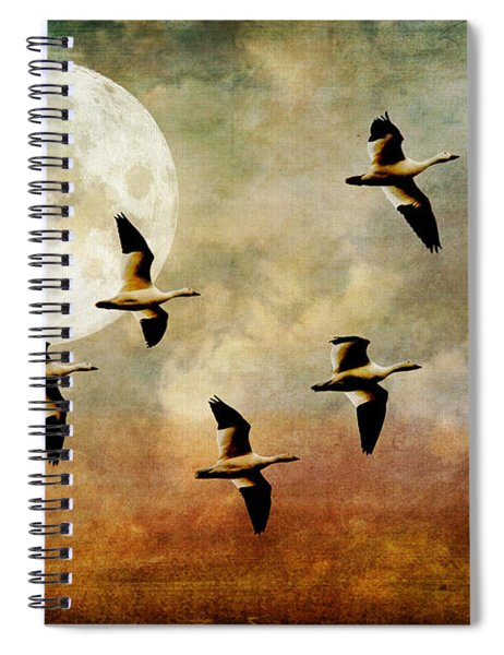 The Flight Of The Snow Geese Spiral Notebook