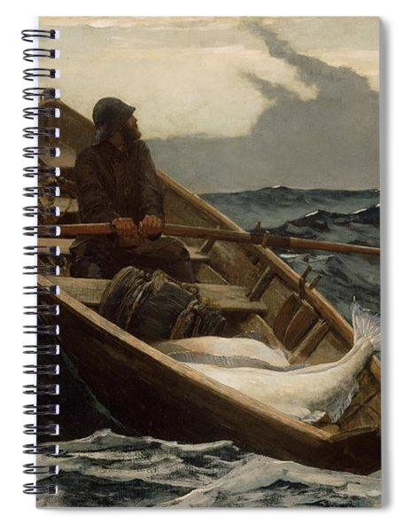 The Fog Warning .halibut Fishing Spiral Notebook