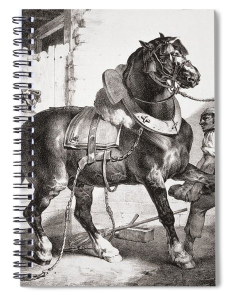 The Forge, From Etudes De Cheveaux, 1822 Spiral Notebook