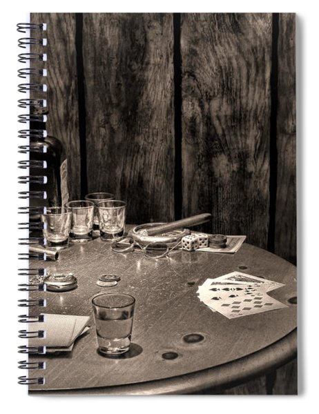 The Gambling Table Spiral Notebook