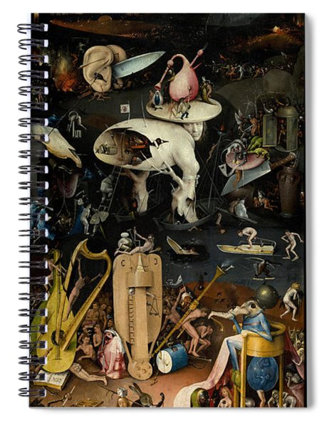 The Garden Of Earthly Delights. Right Panel Spiral Notebook