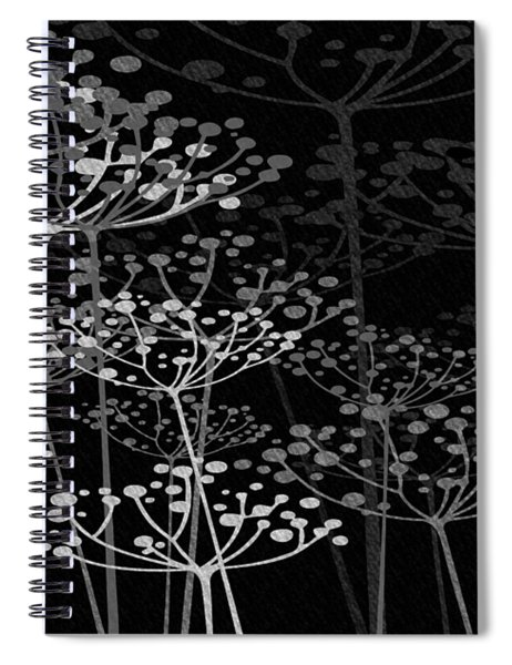 The Garden Of Your Mind Bw Spiral Notebook