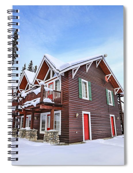 The Glory Of Winter's Chill Spiral Notebook