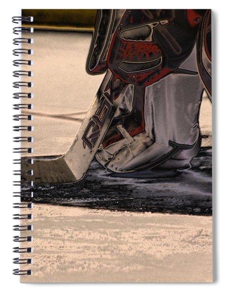 The Goalies Crease Spiral Notebook