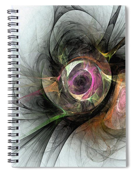 The Golden Reflection Spiral Notebook