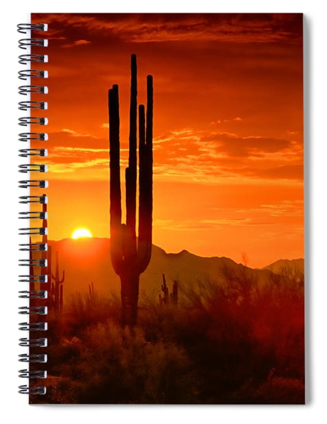 The Golden Southwest Skies  Spiral Notebook