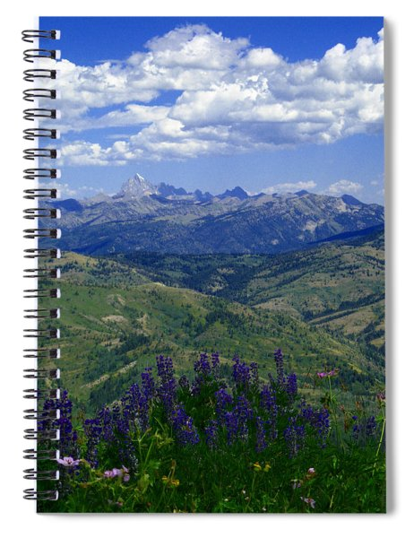 The Grand And Lupines Spiral Notebook