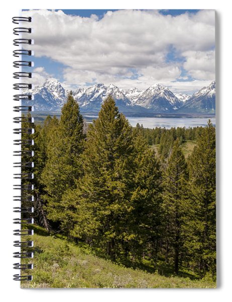 The Grand Tetons From Signal Mountain - Grand Teton National Park Wyoming Spiral Notebook