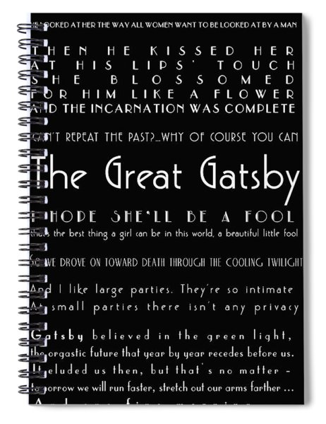 The Great Gatsby Quotes Spiral Notebook