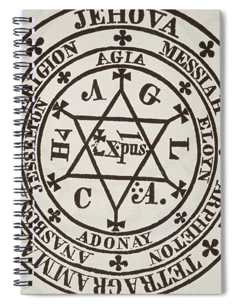 The Great Magic Circle Of Agrippa For The Evocation Of Demons Spiral Notebook