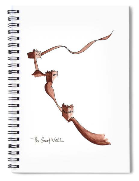 The Great Wall Spiral Notebook