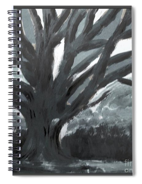 The Grey Tree Spiral Notebook