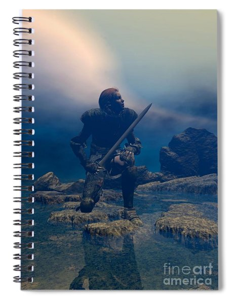The Hand Of God On Your Head Spiral Notebook