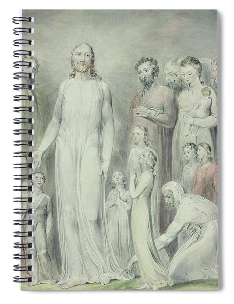 The Healing Of The Woman With An Issue Of Blood Spiral Notebook