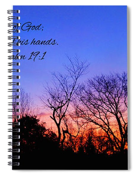 The Heavens Declare Spiral Notebook