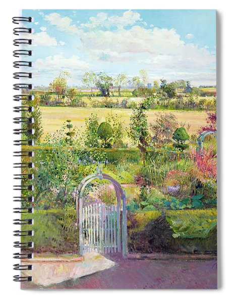 The Herb Garden After The Harvest Spiral Notebook