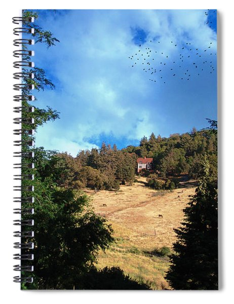 The Hillsides Of Julian Spiral Notebook