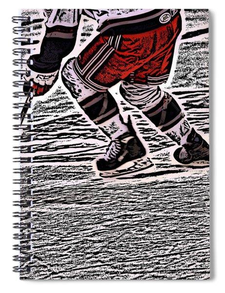 The Hockey Player Spiral Notebook