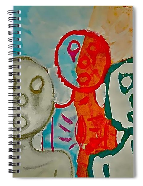 The Hollow Men 88 - Study Of Three Spiral Notebook