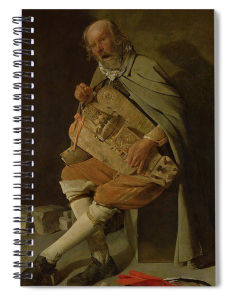 The Hurdy Gurdy Player Spiral Notebook