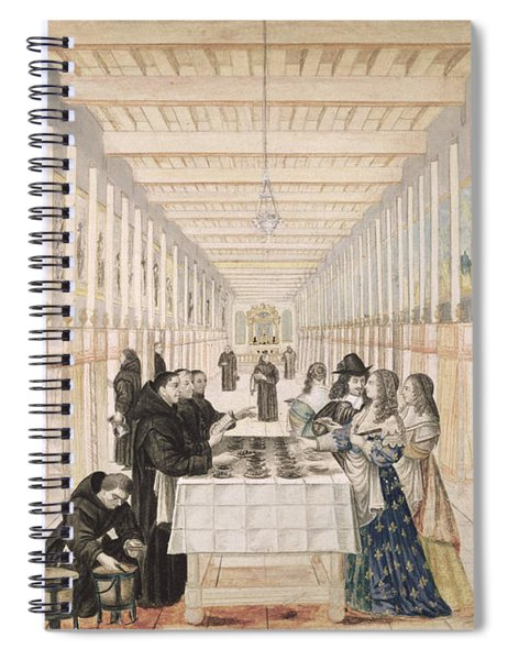The Infirmary Of The Sisters Of Charity During A Visit Of Anne Of Austria  Spiral Notebook