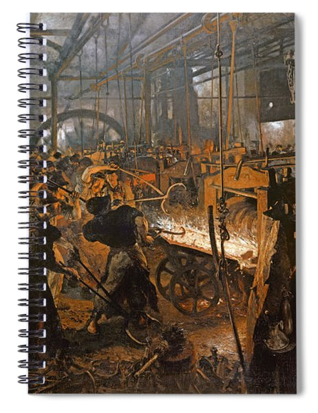 The Iron-rolling Mill Oil On Canvas, 1875 Spiral Notebook