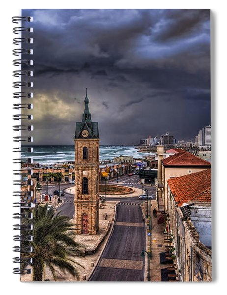 the Jaffa old clock tower Spiral Notebook