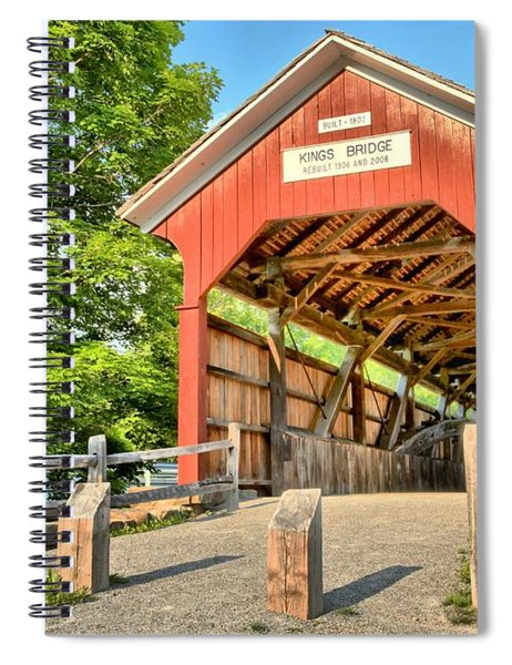The King Covered Bridge Spiral Notebook