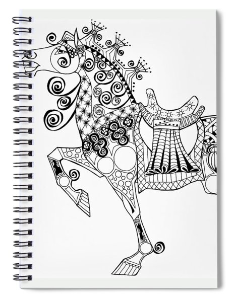 The King's Horse - Zentangle Spiral Notebook