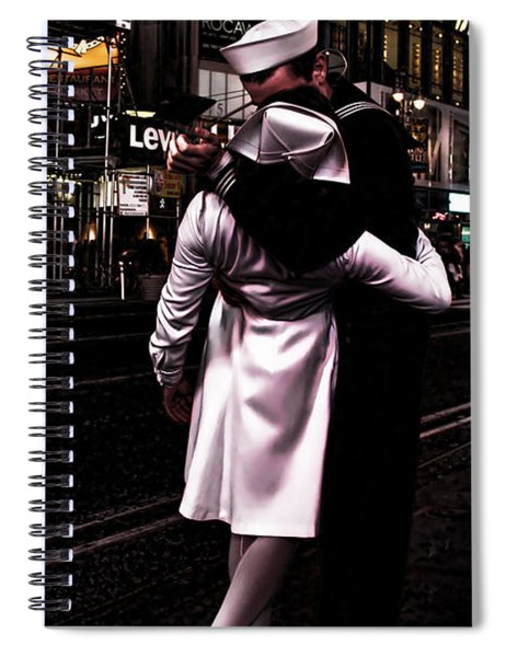 The Kiss In Times Square Spiral Notebook