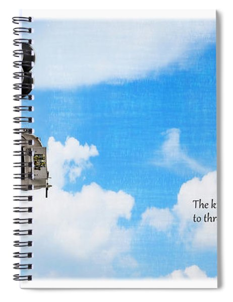 The Knack Of Flying Spiral Notebook