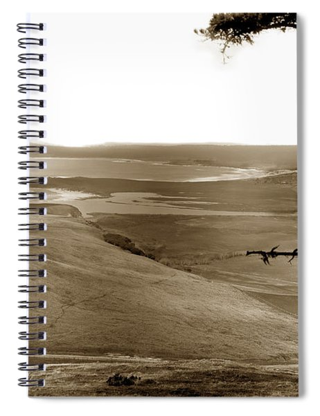 The Lagoon At The Mouth Of The Carmel River  From Fish Ranch California 1905 Spiral Notebook