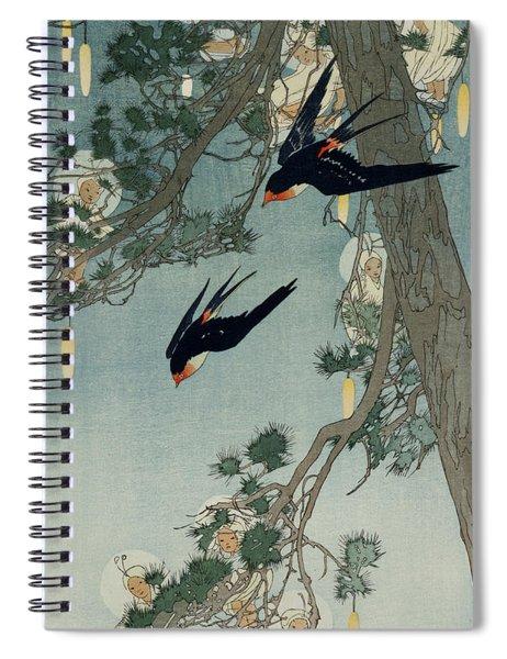 The Land Of The Bluebird Spiral Notebook