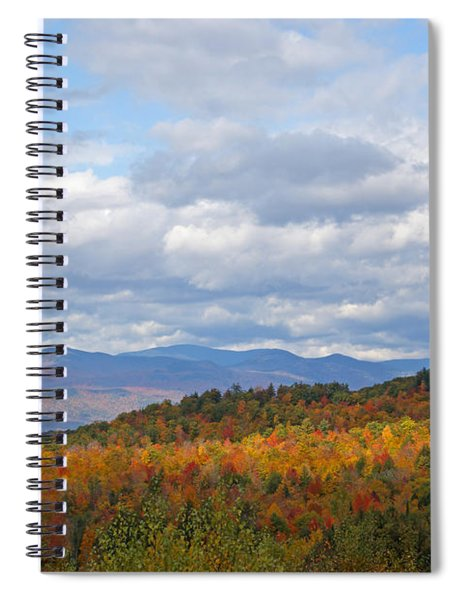 The Light On The Hills Spiral Notebook