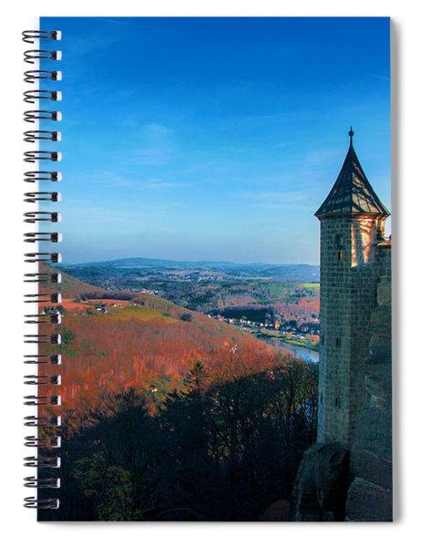 The Lilienstein Behind The Fortress Koenigstein Spiral Notebook