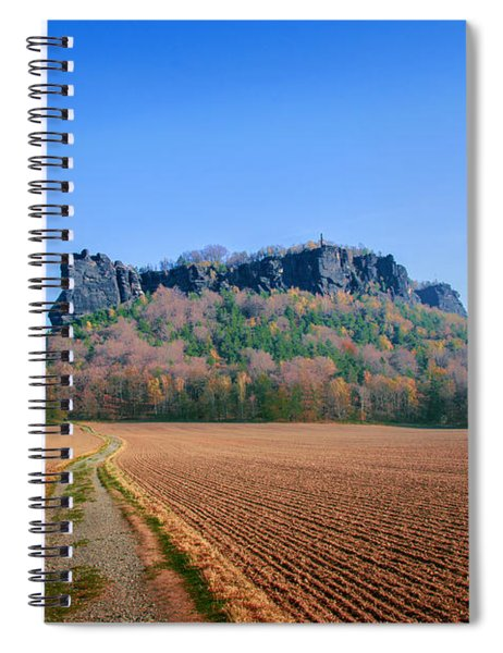 The Lilienstein On An Autumn Morning Spiral Notebook