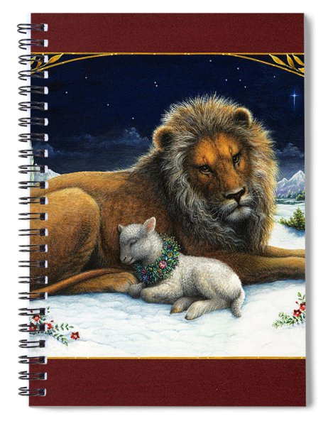 The Lion And The Lamb Spiral Notebook