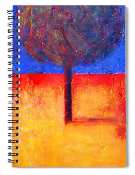 The Lonely Tree In Autumn Spiral Notebook